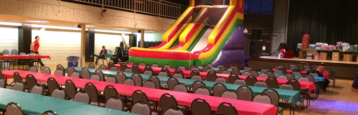 Event Dining with Bouncy Slide
